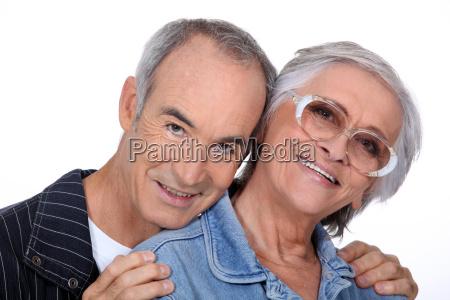 portrait of a senior couple on