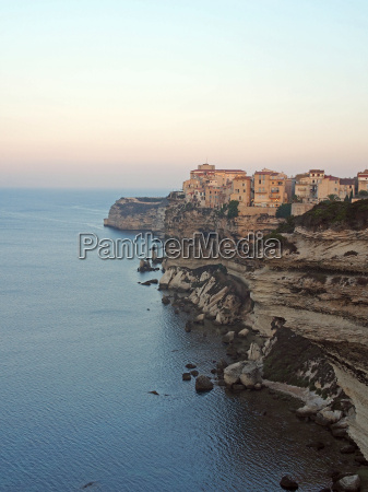 bonifacio at dawn corsica france