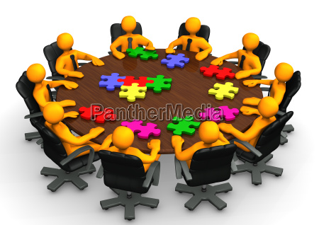 konferenztisch teamwork