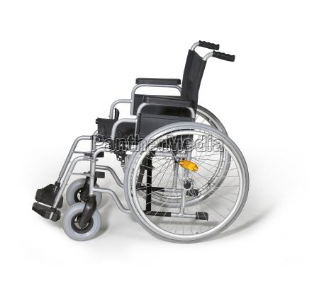 wheelchair in white back