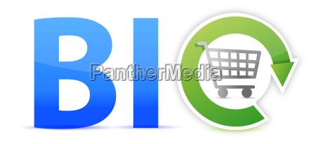 bio shopping konzept illustration design
