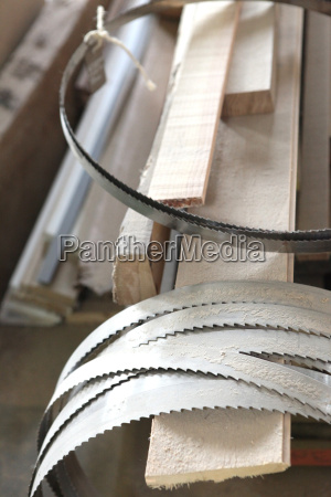 collection of band saw blades