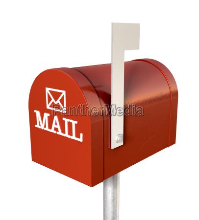 freisteller kommunikation metall fahne abgeschieden briefkasten