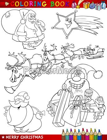 illustration weihnachtszeit christmas garnitur cartoon ansetzen