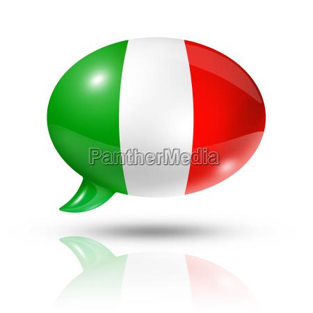 italienische flagge sprechblase