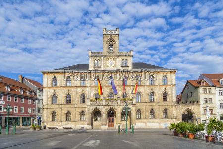 rathaus weimar in deutschland unesco weltkulturerbe
