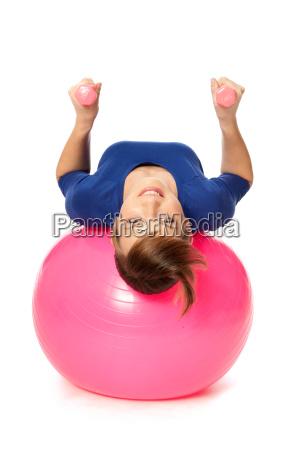 donna femminile palla femmina allenamento esercizio