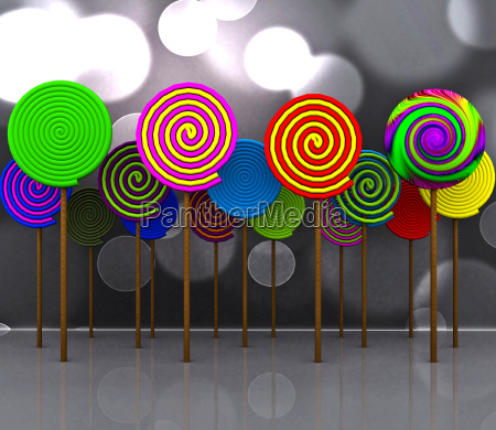 cheerful background with candy 3d