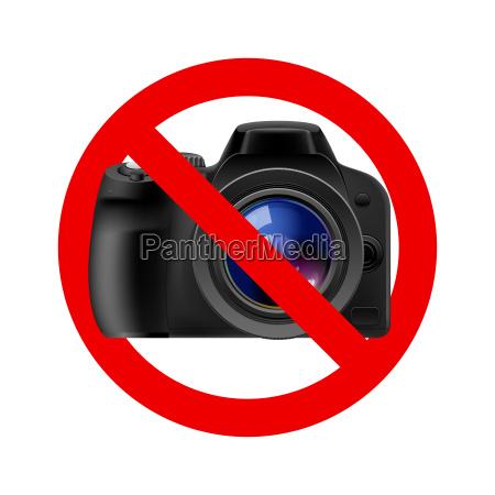 no camera allowed sign