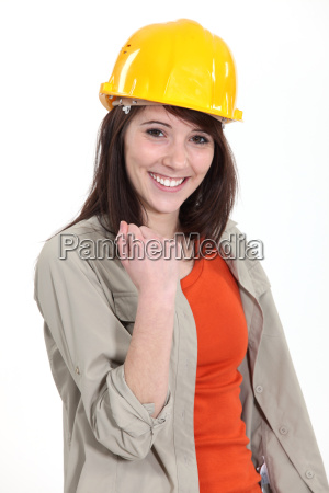 successful young construction worker
