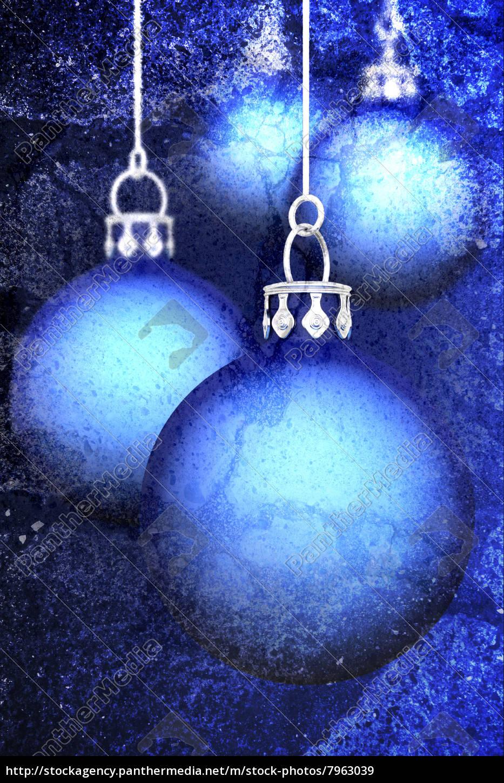 Weihnachtskugeln Blau.Lizenzfreies Bild 7963039 Weihnachtskugeln Hintergrund Grunge Blau