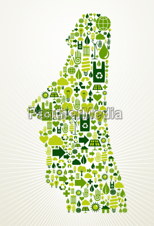 chile go green concept illustration
