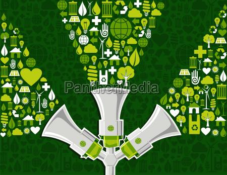 go green social media marketing background