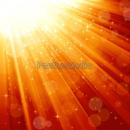 magische sterne absteigend auf lichtstrahlen