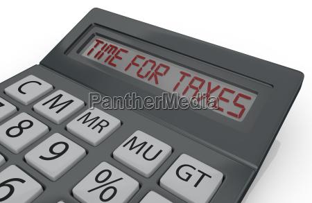 konzept der steuern