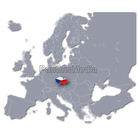 europakarte tschechische republik