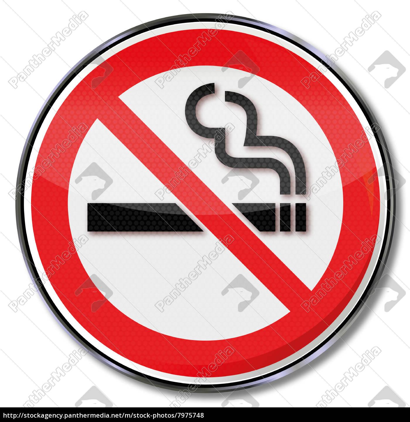 verbotszeichen, rauchverbot, - 7975748