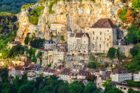 rocamadour village detail view france