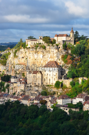 rocamadour village vertical view france