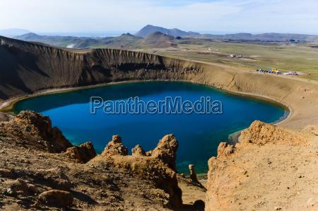 viti krater in krafla vulkanischen gebiet