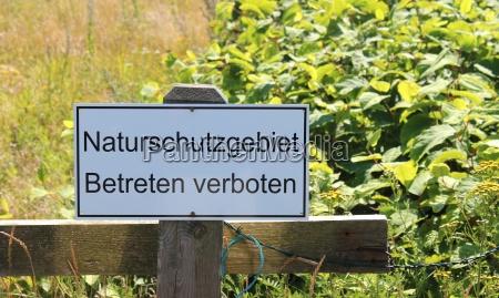 naturschutzgebiet betreten verboten