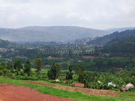 around virunga mountains in africa