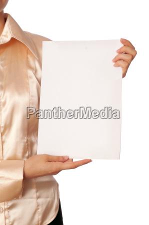 weisse leere papier
