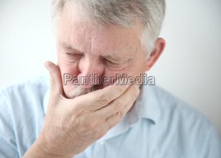 man feels nausea