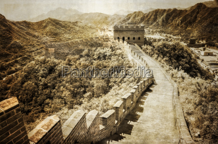 great wall of china vintage retro