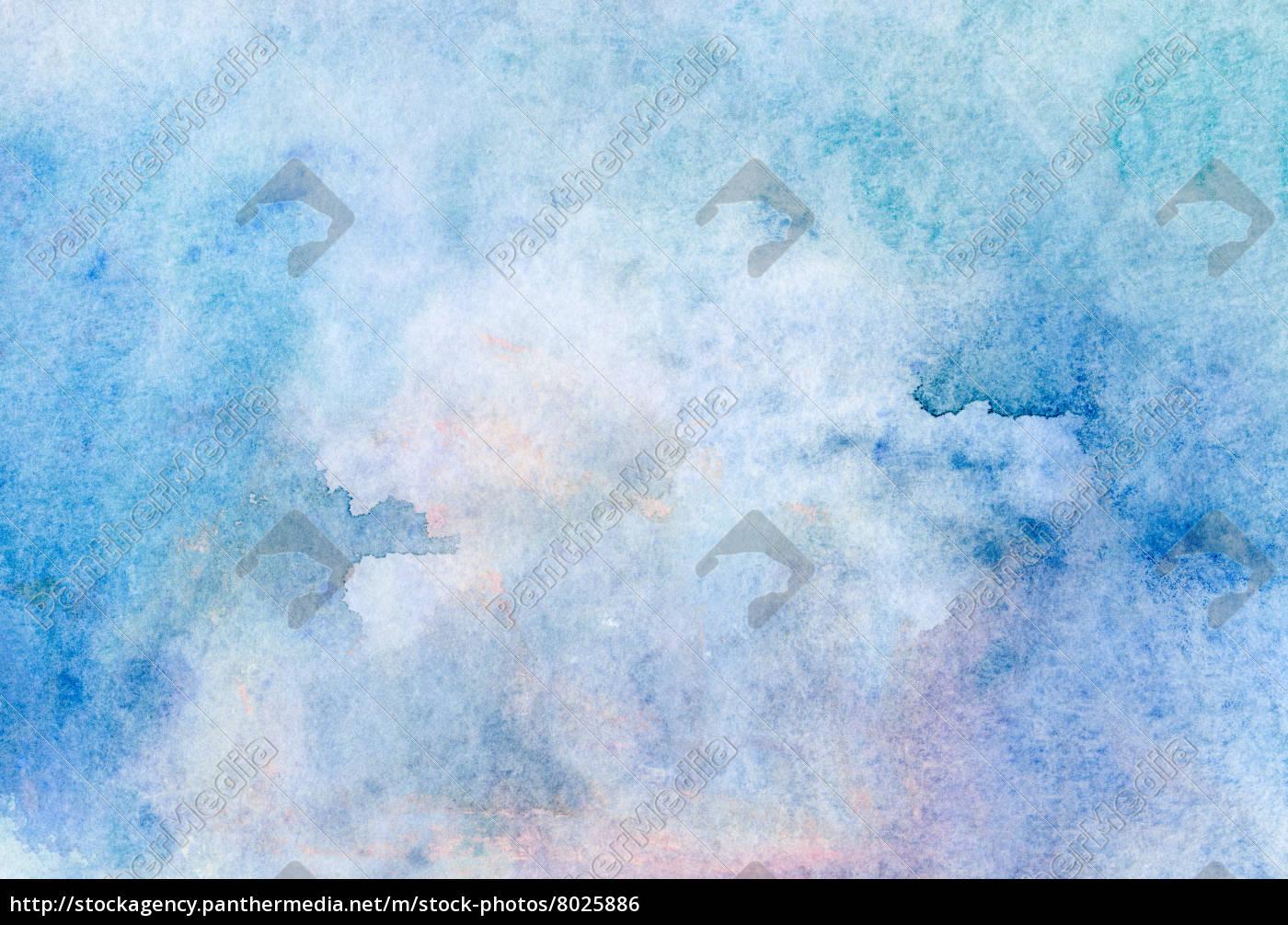 aquarell, hellblau, beige, textur, - 8025886