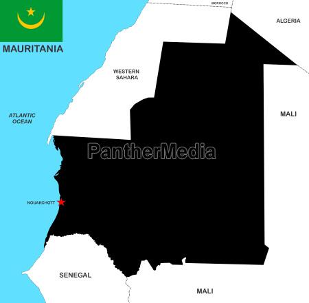 mauritania karte