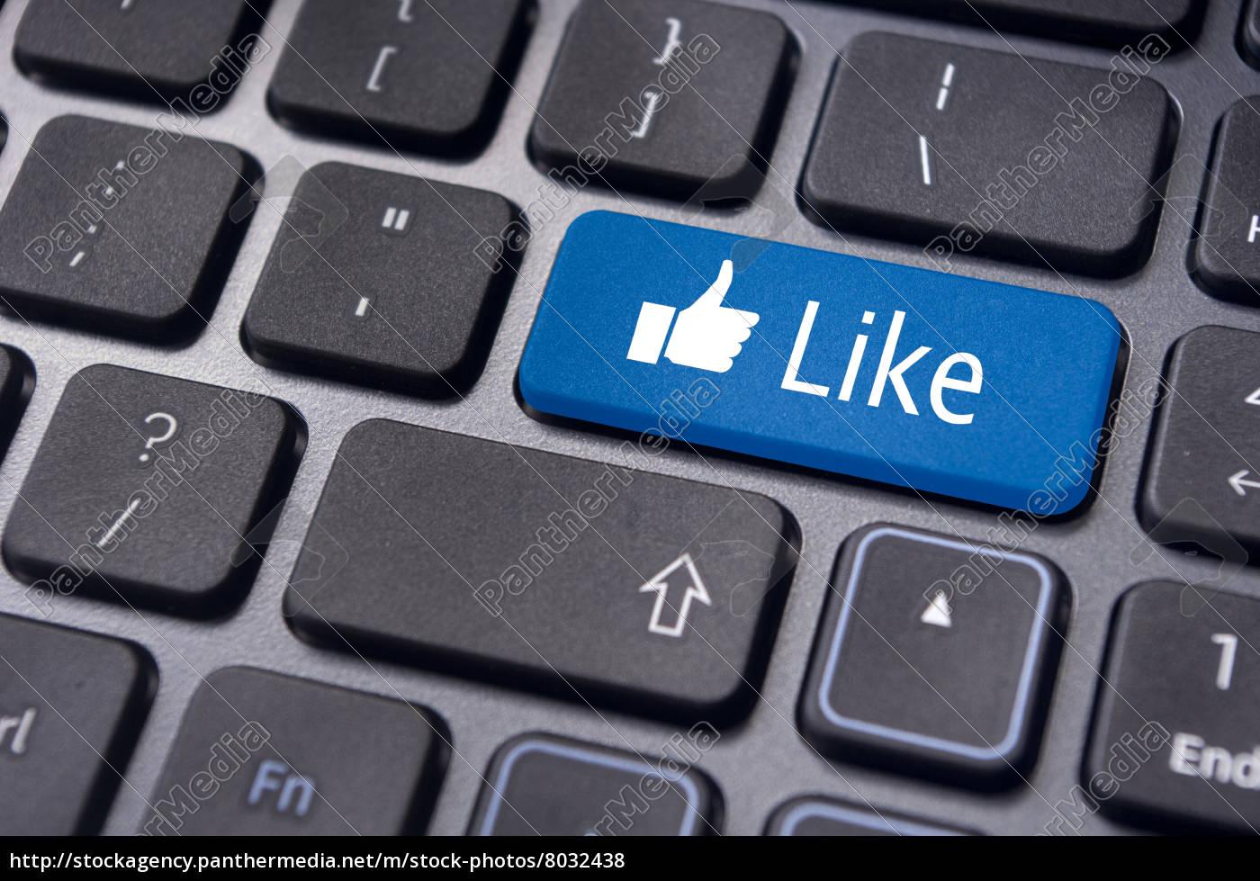 wie, nachricht, auf, der, tastatur-taste, social-media-konzepte - 8032438