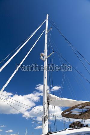 detail katamaran segelyacht detail catamaran