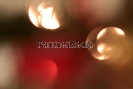 abstract lights at the christmas tree