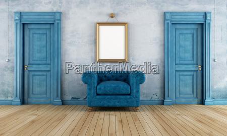 blauer vintage raum
