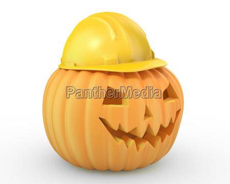 holiday pumpkin jack lantern in a