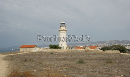 lighthouse of paphos cyprus europe