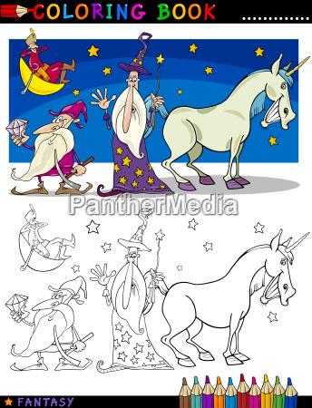 fantasy fantazja ilustracja cartoon kreator kreskowka