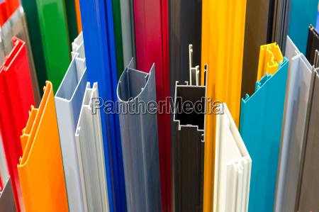 colored aluminum profiles