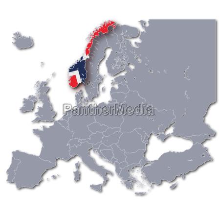 europakarte norwegen