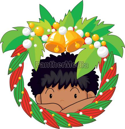 boy christmas wreath