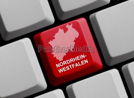 outline north rhine westphalia on computer