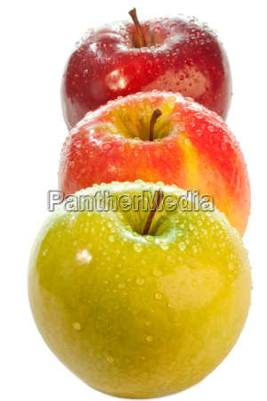 colorful apples