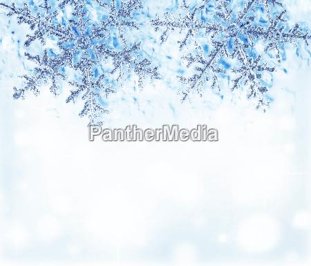 snowflake blauem dekorative grenze