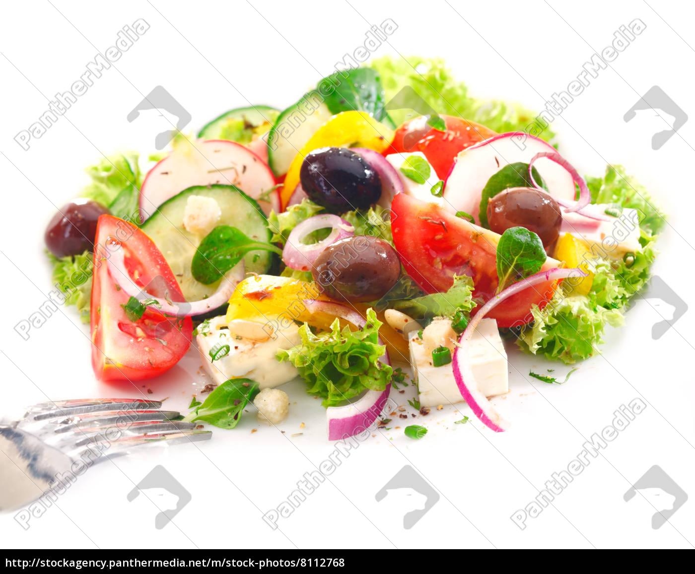 köstlichen, griechischen, salat - 8112768