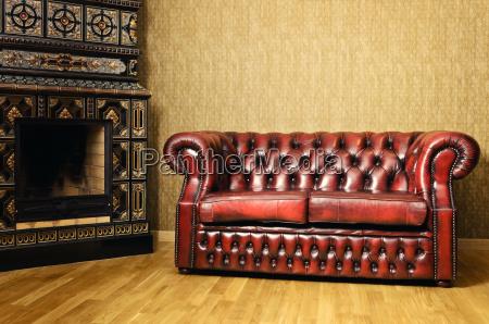 stuhl und kamin
