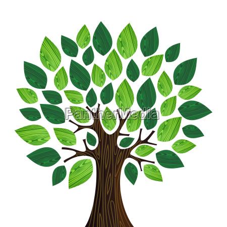 eco friendly concept tree