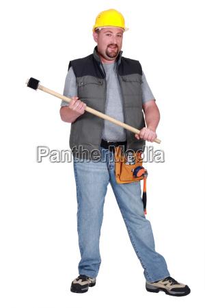 full length portrait of a tradesman