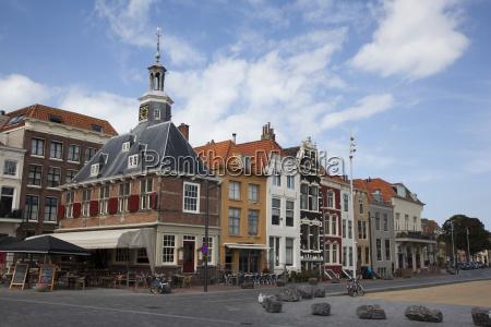 turm stadt uhr holland niederlande ziegel