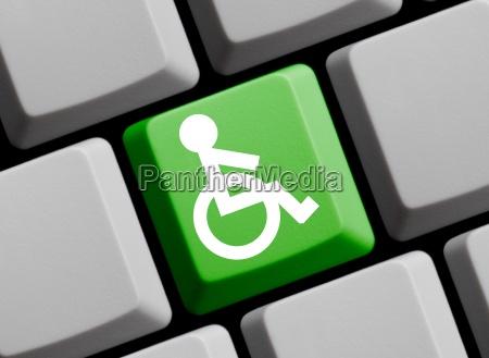 wheelchair symbol on computer keyboard